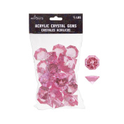 Mega Crafts 0.2kg Acrylic Large Diamonds Pink | Plastic Glass Gems For Arts And Crafts, Vase Fillers And Table Scatters, Decoration Stones, Shiny Pebbles