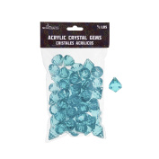 Mega Crafts 0.2kg Acrylic Gemstones Aqua | Plastic Glass Gems For Arts And Crafts, Vase Fillers And Table Scatters, Decoration Stones, Shiny Pebbles