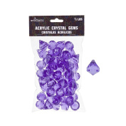 Mega Crafts 0.2kg Acrylic Gemstones Lavender | Plastic Glass Gems For Arts And Crafts, Vase Fillers And Table Scatters, Decoration Stones, Shiny Pebbles