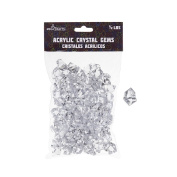 Mega Crafts 0.2kg Acrylic Ice Rock Cubes Clear | Plastic Glass Gems For Arts And Crafts, Vase Fillers And Table Scatters, Decoration Stones, Shiny Pebbles