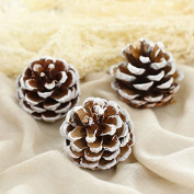15-Piece Snow Tipped Real Natural Dried Pine Cones for Potpourri, Bowl Fillers, and Crafting£¬Unscented