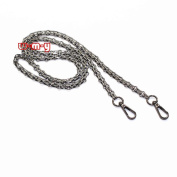 M-W NEW 140cm DIY Iron Chain Strap Handbag Chains Accessories Purse Straps Shoulder Cross Body Replacement Straps, with 2pcs Metal Buckles Style5