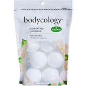 Bodycology Pure White Gardenia Bath Soak Fizzies Bombs 8 - 60ml Balls