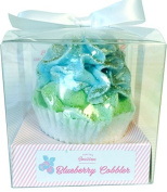 Feeling Smitten Blueberry Cobbler large cupcake