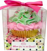 Feeling Smitten Large Cup Cake - Mom Your're the Bomb!