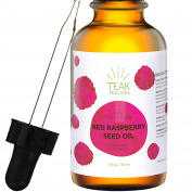 RED RASPBERRY SEED OIL by Teak Naturals - 100% Organic, Natural for Face, Hands, Scars, and Breakouts - 30ml