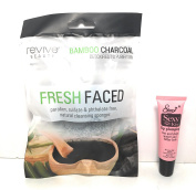 "Revive Fresh Face Bamboo Charcoal Natural Cleansing Sponge ""Free Starry Lipgloss 10 Ml"""