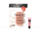 "Revive Exfoliating Konjac Body Sponge / Red Clay Sponge for Clears Complexion ""Free Starry Lipgloss 10 Ml"""