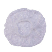 Disposable Shower Caps, Clear Plastic Caps For Spa, Home Use, Hotel and Hair Salon, Pack of 100