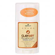 Adama Claydry Deodorant Spring Rain Zion Health 70ml Stick 2 Pack