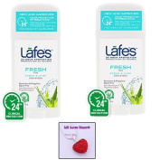 Lafe's Natural Deodorant Stick FRESH SCENT (2 Pack) & Rhinestone Heart