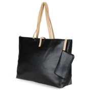 Cute Women's Tote Sweet PU Leather Handbag Shoulder Bag Purse Shopping Hobo Black