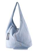 BORDERLINE - 100% Made in Italy - Women bag purse unlined real suede - SARA