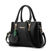 MSXUAN Ladies' PU Leather Handbags for Women Autumn Trend of Simple Fashion Shoulder Bag with Strap