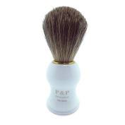 Badger Shaving Brush with White Handle