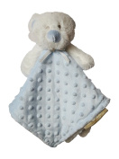 Blankets and Beyond Blue and White Dot Bear Baby Security Blanket