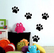 Dailinming PVC Wall Stickers Children's Bedroom bears footprints Yo children bedside glass garden home decor classroomWallpaper55 cm x 10cm-Brown