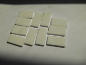 FortySevenGems 50 Pieces White Opaque Stained Glass Mosaic Border Tiles 1.3cm x 2.5cm