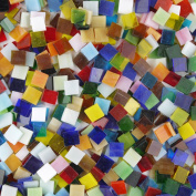 Lieomo 200g 10mm Mixed Colour Tumbled Stained Glass Mosaic Tiles