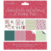 Dovecraft Christmas Decoupage & Paper Pad - Scenes - Card or Scrapbooking Kit