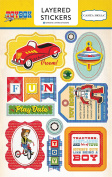 Carta Bella Paper Company CBTB66025 Toy Box Layered Stickers