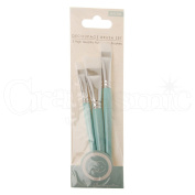 Craft Consortium Decoupage Brush Set 3/Pkg-Flat W/Nylon Bristles; 10Mm, 15Mm & 20Mm