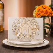 50-Packed Laser Cut Invitations Cards Kit, Printable for Wedding Party, Bridal Shower with Envelopes and Seal Sticker