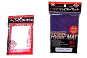 KMC Hyper Mat Sleeve Purple (80Pieces) & Card Barrier Perfect Size Soft Sleeves (100Pieces)
