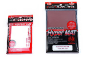 KMC Hyper Mat Sleeve Red (80Pieces) & Card Barrier Perfect Size Soft Sleeves (100Pieces)