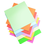 BUYITNOW 100 Sheets Double Sided Origami Paper 15cm by 15cm Kids Art in 10 Assorted Colours