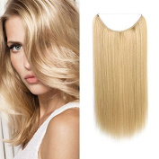 Halo Miracle Invisible Wire Flip In Secret Hair Extensions 100g 60cm 100% Remy Premium Grade Human Hair #22 Light Blonde Colour