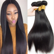MXXYY Brazilian Human Hair Direct 3 Bundles 7A 100% Unprocessed Remy Human Hair Weave Extensions Natural Black Colour