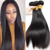 MXXYY Brazilian Human Hair Direct 3 Bundles 7A 100% Unprocessed Remy Human Hair Weave Extensions Natural Black Colour