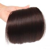 AOERT Straight Bang Heat Resistant Kanekalon Synthetic Hair Clip-in Bangs - Three Colour Straight Fringe Clip in Bang