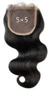 Ms Fenda Free Part 5x 5 Lace Front Closure Brazilian Virgin Human Hair Closure Piece with Baby Hair Pre Plucked Natural Hairline