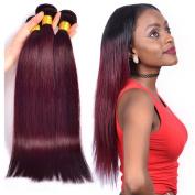 XCCOCO Hair Brazilian Straight Hair Weave Bundles 99J 3pcs/Lot 100% Unprocessed Virgin Remy Human Hair Extensions 16 16 16