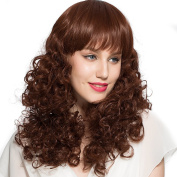 Small fluffy decorative wig long curly hair wigs ladies wig models Liu Qi quality high temperature wire wig
