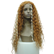 European and American fashion wig curls loose hot wire black Africans long synthetic wig braids wig