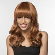 Qi Liu grew up in volume real hair wig elegant fashion ladies hair Golden blonde in Europe and America hair nets