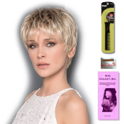Aura (Hair Society Collection) by Ellen Wille, Wig Galaxy Hair Loss Booklet, Wig Cap, & Wig Styling Pick (Bundle - 4 Items), Colour Chosen