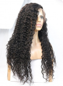 WOB Hair 100% Remy Human Hair Natural Looking Jerry curl 360 lace Wigs Brazilian Hair Glueless Lace Wigs 180 Density Medium Size Cap Medium Brown Lace Natural Colour 46cm