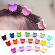 Sc0nni 30Pcs bangs mini hair claw clip hair pin for little girls Random Assorted coloured