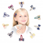 HBY Boutique No Slip Hair Bow Snap Alligator Clips, Barrettes for Girls Toddlers Kids Women Accessories