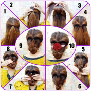 QY 14PCS 7 Set Colourful Different Size Plastic Hair Braid Ponytail Makers Styling Loops Tool