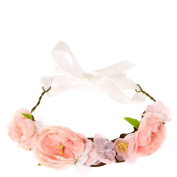 Icing Pink Flower Ribbon Headwrap Girls Multi/Pink 9