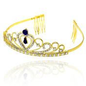 CamingHG Wedding Bridal Bridesmaid Flower Girls White Plated Crystal Tiara Crown / Headband For Prom
