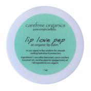 Carefree Organics Lip Love Pep, an organic peppermint lip balm, 30ml