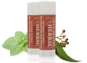 Therapeutic Intensive Natural Lip Repair Treatment Balm 2 Pak For Dry and Cracked Lips - Peppermint Eucalyptus Essential Oil Scent, Paraben Free, Ora's Amazing Herbal