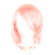 Ren - Cotton Candy Pink Wig 30cm Short Flare Cut