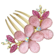 Valuable Hair Clips,Dealzip Inc Beautiful Jewellery Crystal Rhinestone Pink Flowers Hairpins Hair Clips Hair Beauty Tools